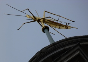 Gresham's grasshopper symbol atop the Royal Exchange