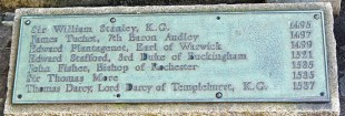 Plaque marking site of More's execution on Tower Hill