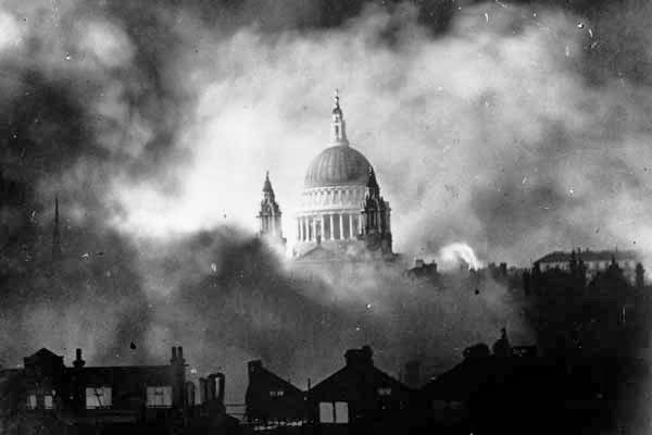 Iconic image of St Paul's in the blitz