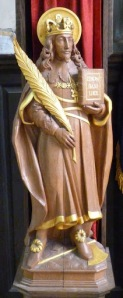 Charles depicted as a martyr and saint