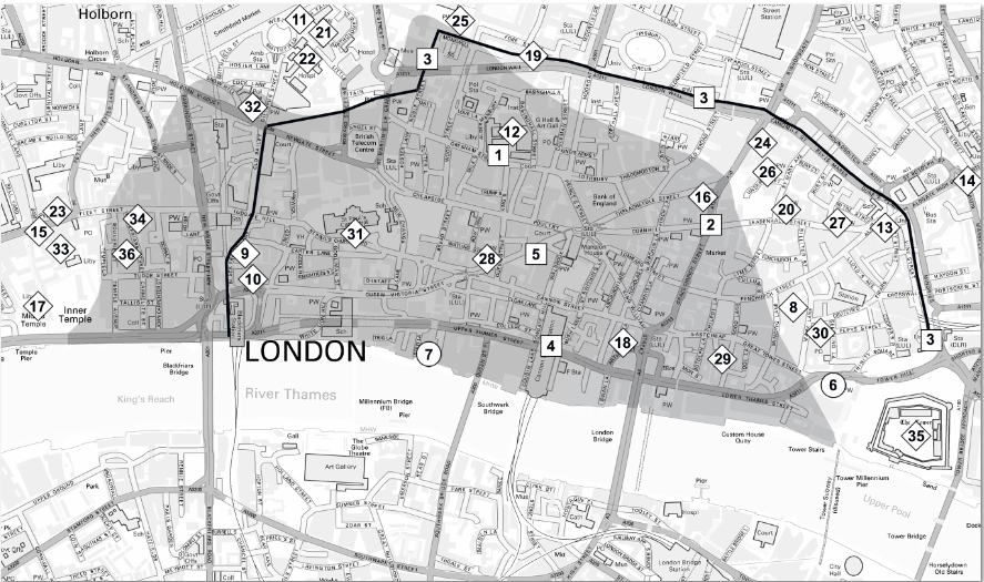 Great Fire Of London Map.Map Picture 2 The Lost City Of London Before The Great Fire Of