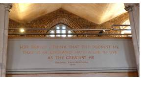 Rainsborough quotation, on display in St Mary the Virgin