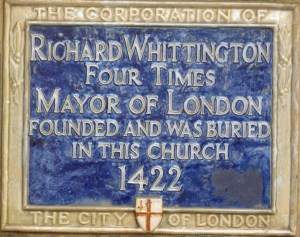 Whittington plaque, St Michael Paternoster Royal