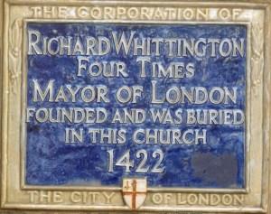 Whittington plaque, St Michael Paternoster Royal