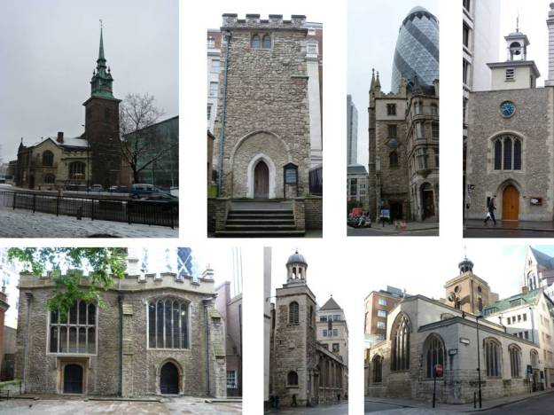 All Surviving Medieval Churches in the City of London