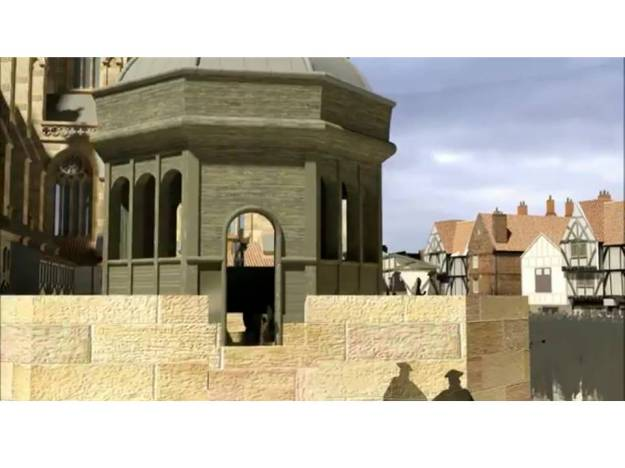 3D recreation of the site of Donne's sermon