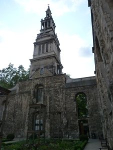 Christ Church Greyfriars ruins and tower