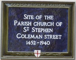 Site of St Stephen Coleman Street