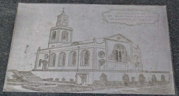 St Mary Aldermanbury plaque