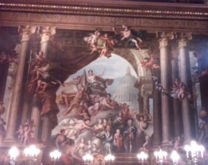 The west wall of the Upper Hall,  featuring George I and his children and grandchildren