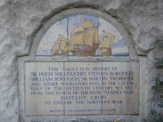 Close-up of Frobisher plaque, Ratcliff