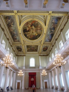 General view of the Banqueting House interior - from the entrance