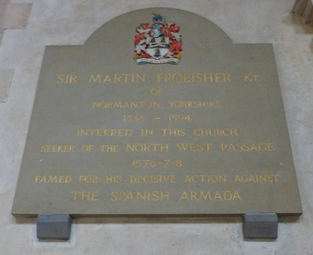 Frobisher memorial, St Giles Cripplegate