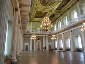 General view of the Banqueting House interior - looking back towards the entrance