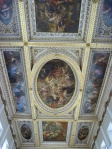Close-up of the Banqueting House ceiling by Rubens