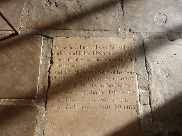 17th century gravestone of Hall Hall & family