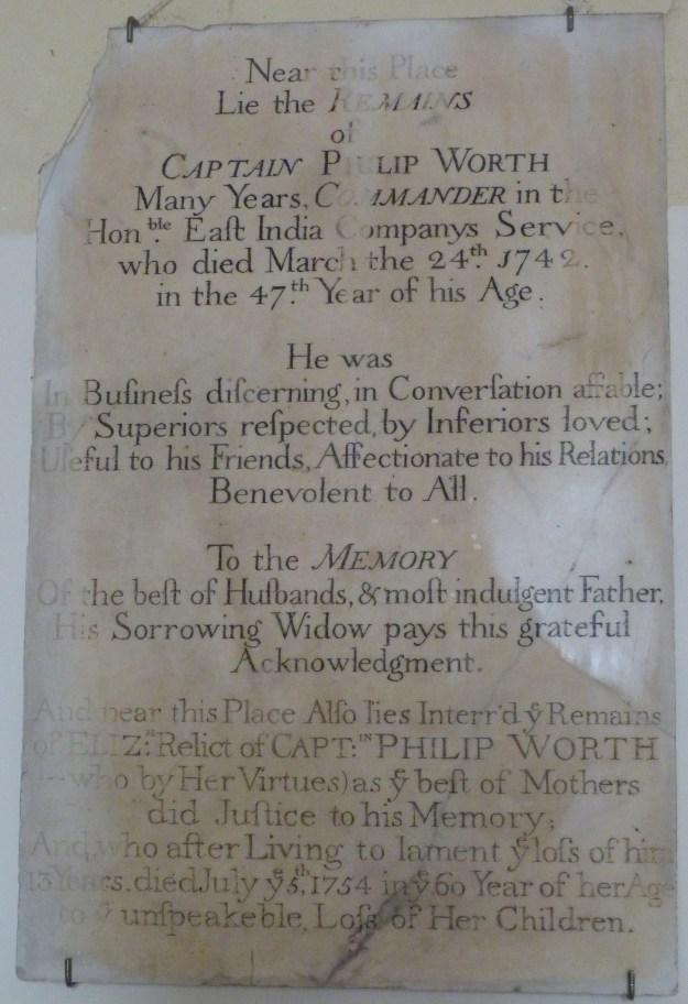 18th century memorial