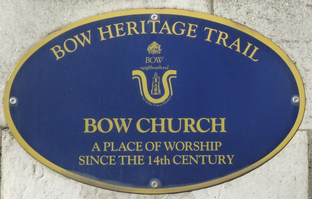 Bow Church plaque