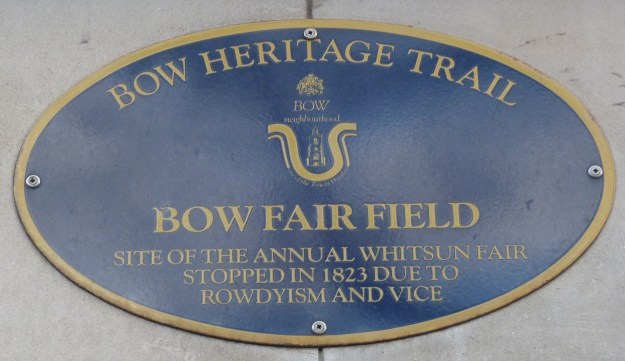 Bow Fair Field plaque