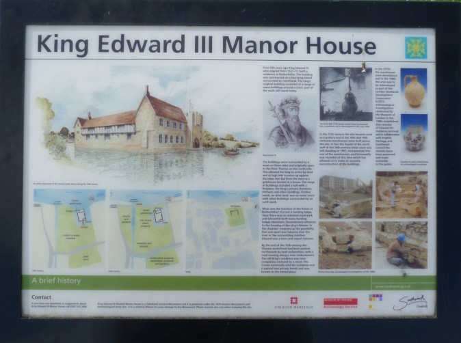 King Edward III Manor House plaque