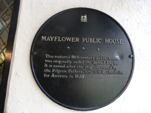 Mayflower plaque, Mayflower public house