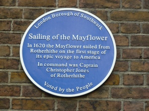 Mayflower plaque, St Mary's