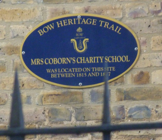 Mrs Coborn's Charity School plaque