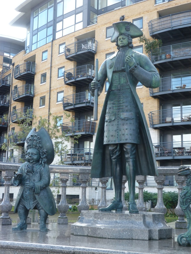 Statue of Peter the Great and friend, Deptford