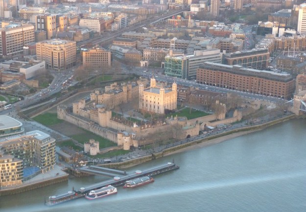 The Tower of London as viewed from the Shard