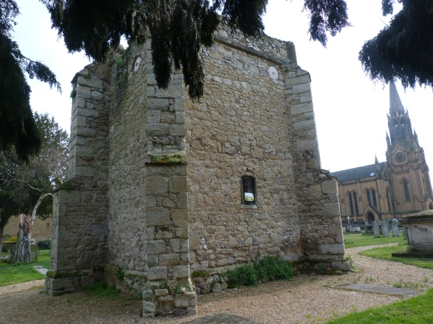 Old tower of St Margaret of Antioch from the rear