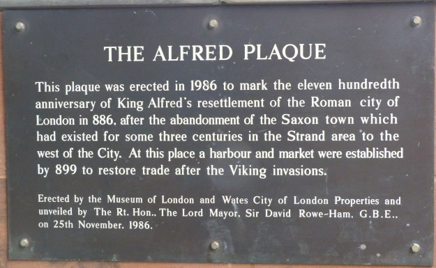 Alfred plaque, Queenhithe