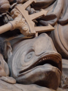 Angry fish (Guildhall)