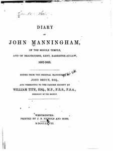 Diary of John Manningham