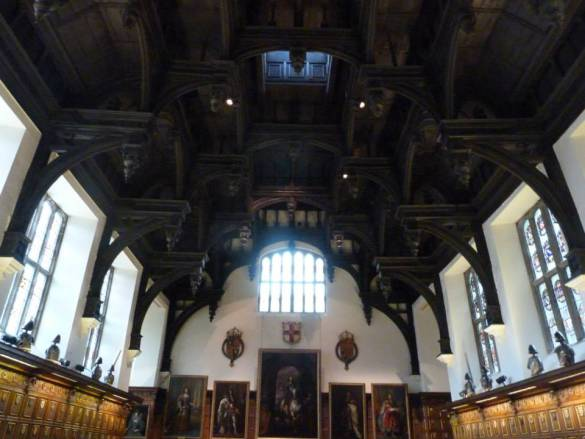 Middle Temple Hall double hammerbeam ceiling