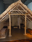 Reconstruction of  Saxon dwelling, Museum of London