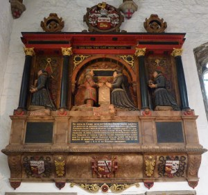 10 - Memorial to Jacobus (James) Deane (d. 1608)