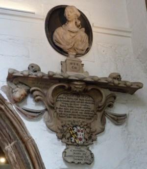 13 - Memorial to Elizabeth Pepys (d. 1669)