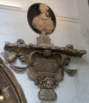 13 - Memorial to Elizabeth Pepys (d. 1669)