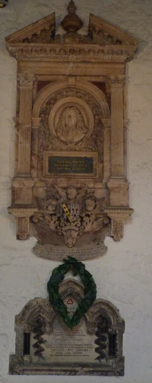 14 - Memorial to Samuel Pepys (d. 1703)