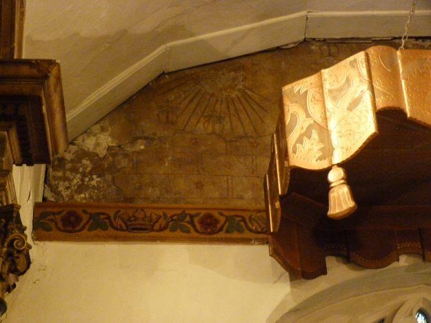 Surviving Medieval wall painting, St Dunstan, Cranford
