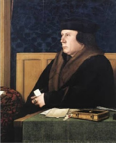 Thomas Cromwell - as painted by Holbein in c1533