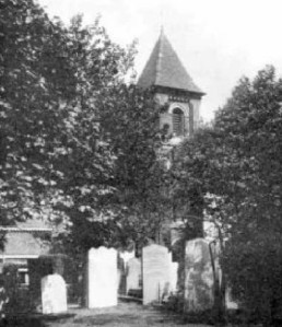 Early twentieth-century photograph showing then surviving Victorian church