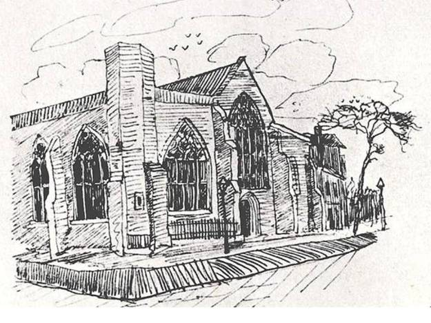 The late nineteenth-century Dutch Church - as sketched by van Gogh in 1876