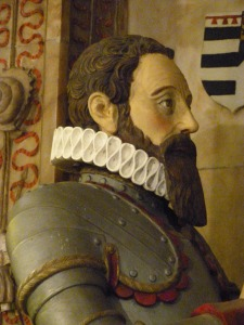 Detail of figure of Sir Roger Aston