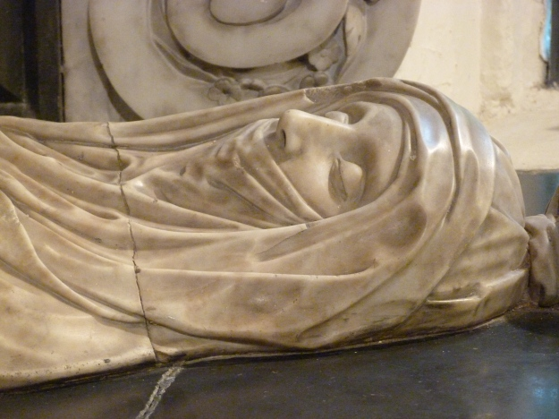 Detail of head of Elizabeth, Lady Berkeley
