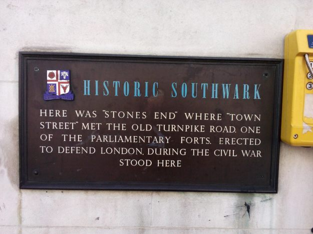Site of Civil War fort, Borough High Street