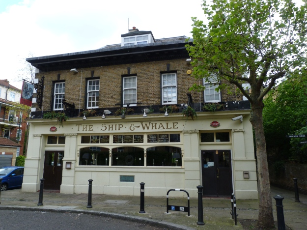 Ship and Whale public house, near Greenland Dock (photo by Bob Jones)