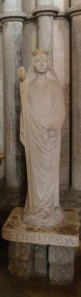 Statue of St Ethledreda in Ely Cathedral