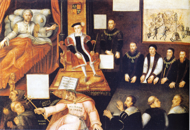 Edward receiving the blessing of his dying father, Henry VIII