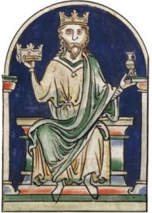 Medieval image of Alfred